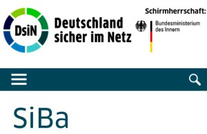 Bildschirmfoto der Seite https://www.sicher-im-netz.de/siba